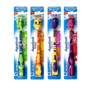 Aquafresh fogkefe Flex-o Friends (3 éves kortól)