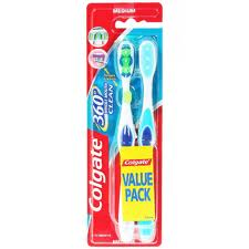 Colgate fogkefe 360° whole mouth clean 1+1 közepes