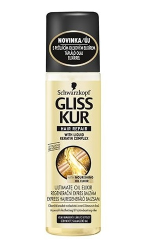 Gliss Kur express hajregeneráló balzsam 200ml Ultimate Oil Elixir