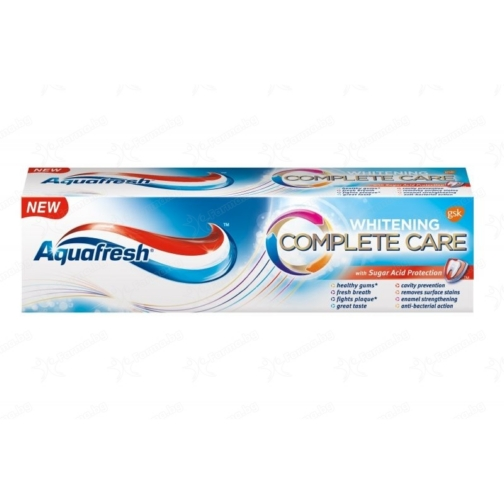 Aquafresh fogkrém 100ml Complate care Whitening