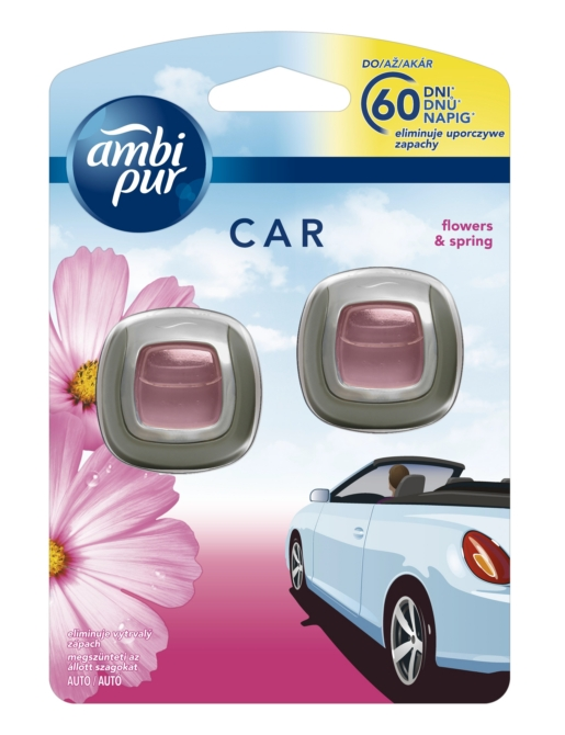 Ambi Pur Car illatosító 2*2ml Flowers&Spring DUO