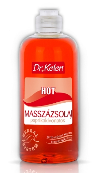 Dr.Kelen masszázsolaj 500ml hot