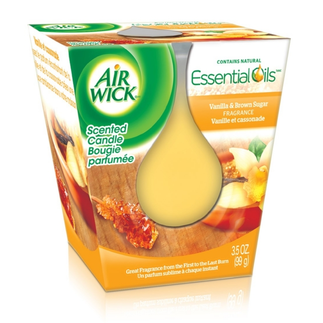Air wick Essential Oil illatgyertya 105g Vanília