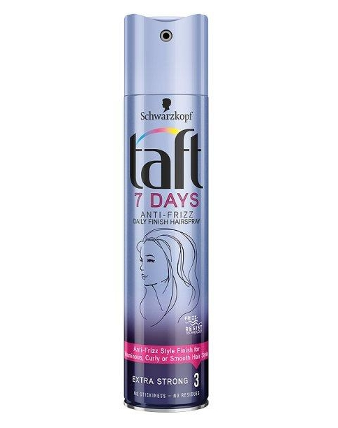 Taft hajlakk 250ml 7Days Anti-Frizz