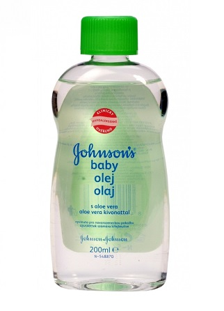 Johnson's Baby olaj aloe verával 200ml