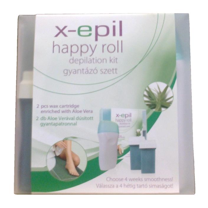 Illatszer webáruház  X-Epil Happy roll gyantázószett aloe verával 39dc24e898